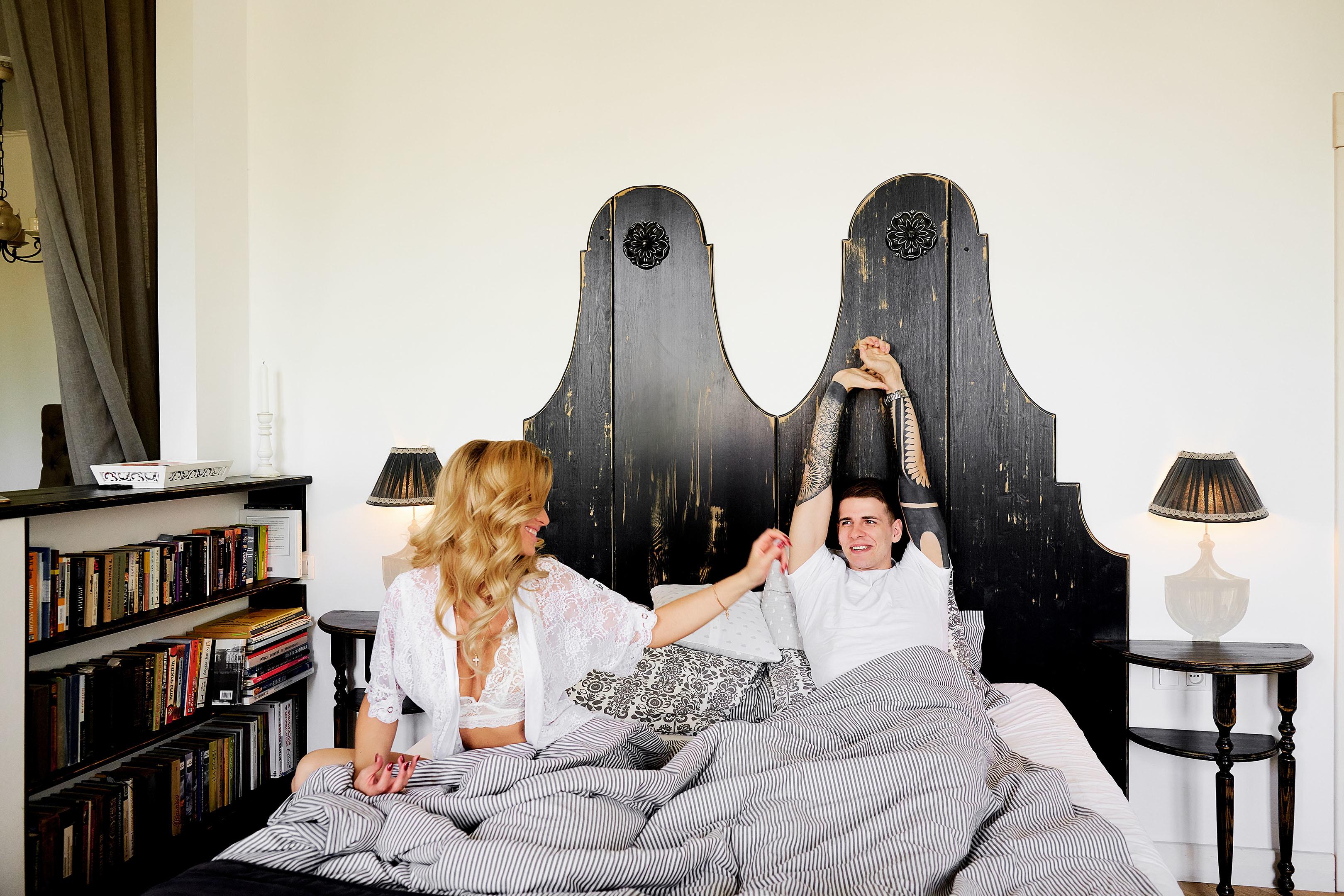 Совместное утро жениха и невесты в апартаментах, свадебный фотограф спб
