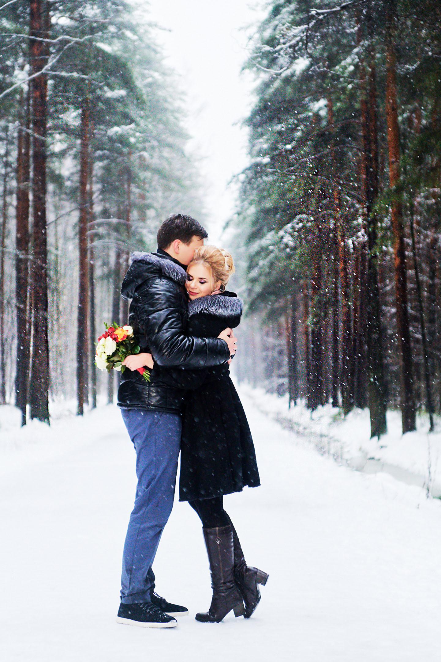 Зимняя фотосессия, свадебный фотограф спб