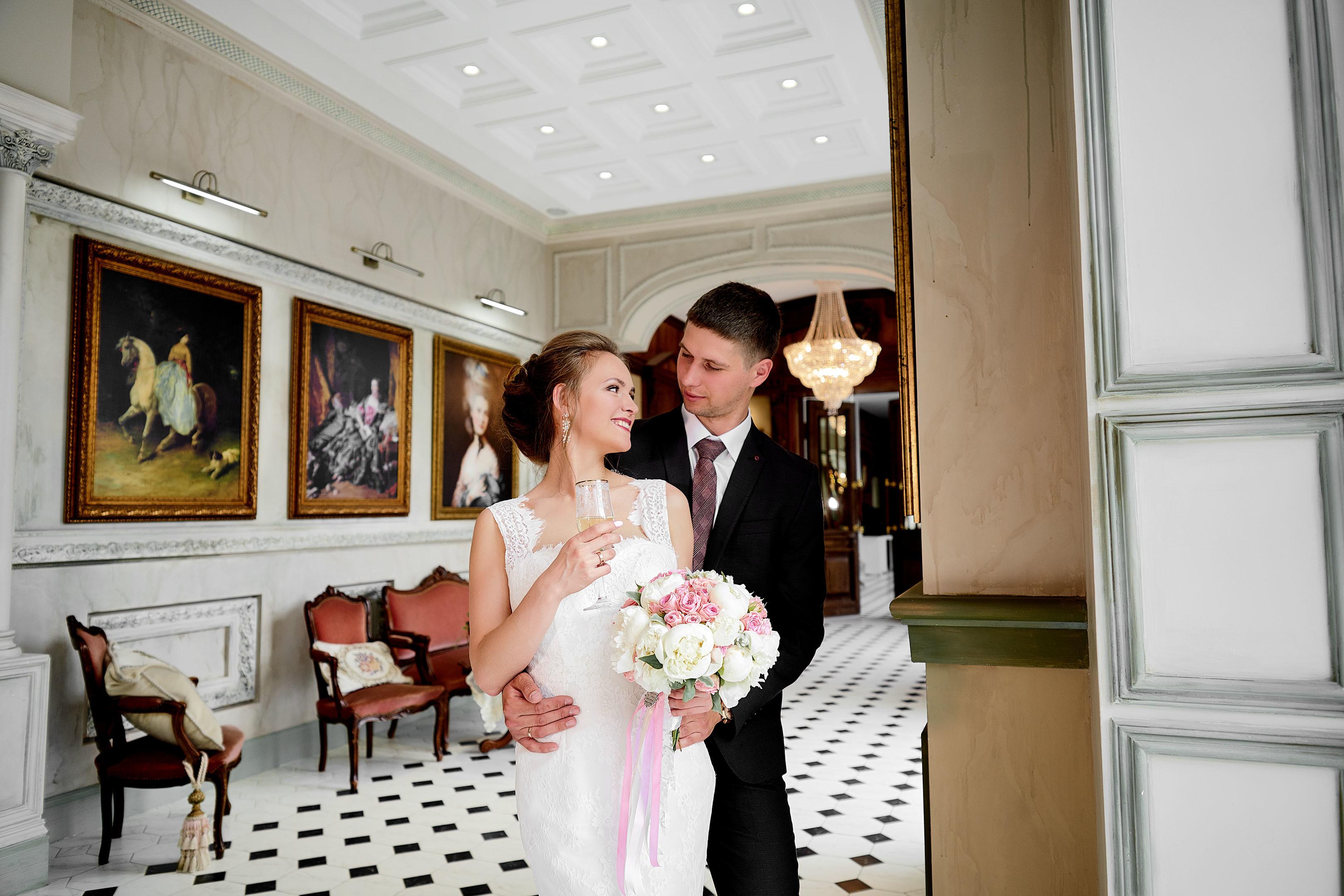 Свадебная фотосессия в фотостудии, свадебный фотограф Спб, Питер