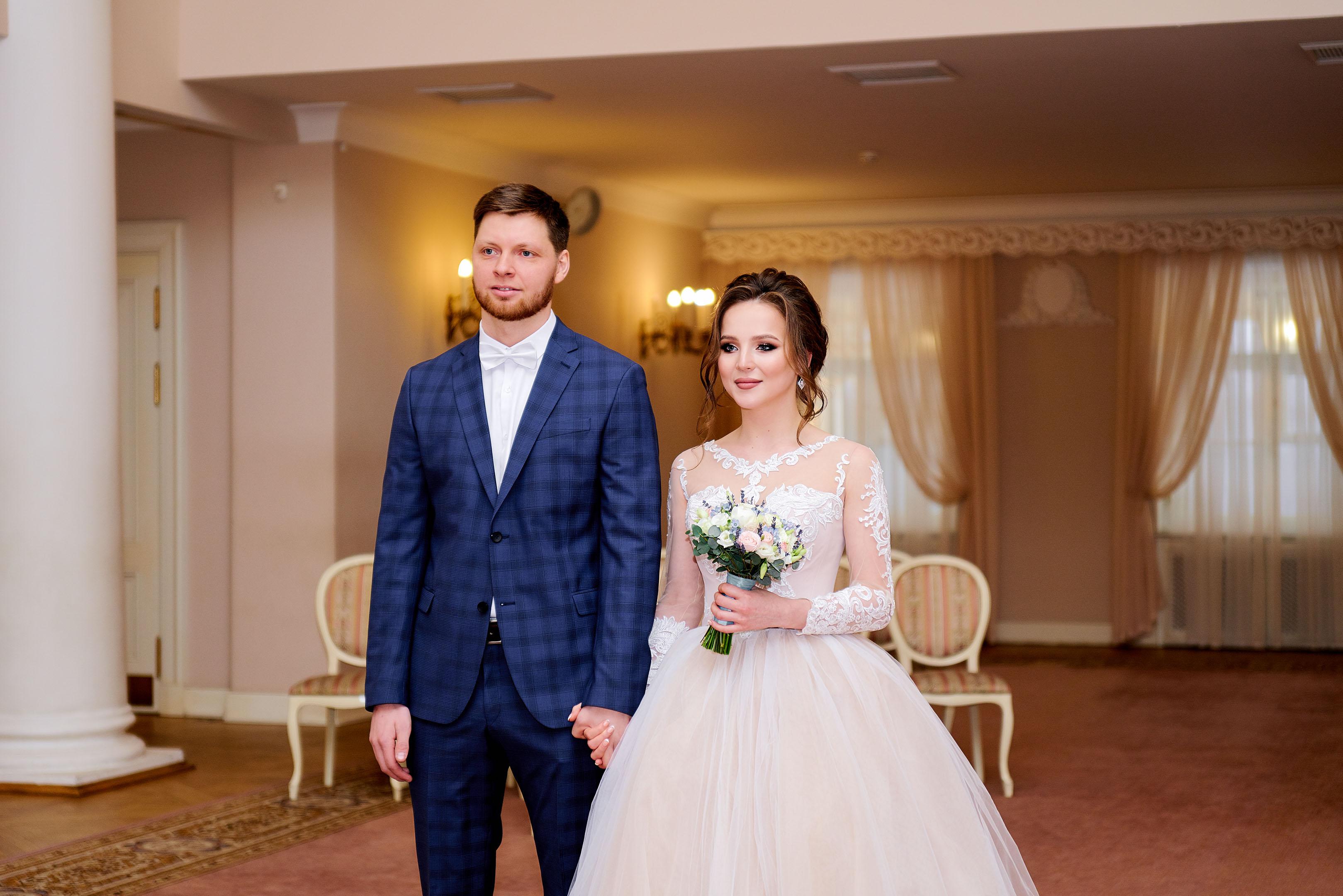 Торжественная регистрация в большом зале, Дворец Бракосочетания №3, свадебный фотограф в Пушкине