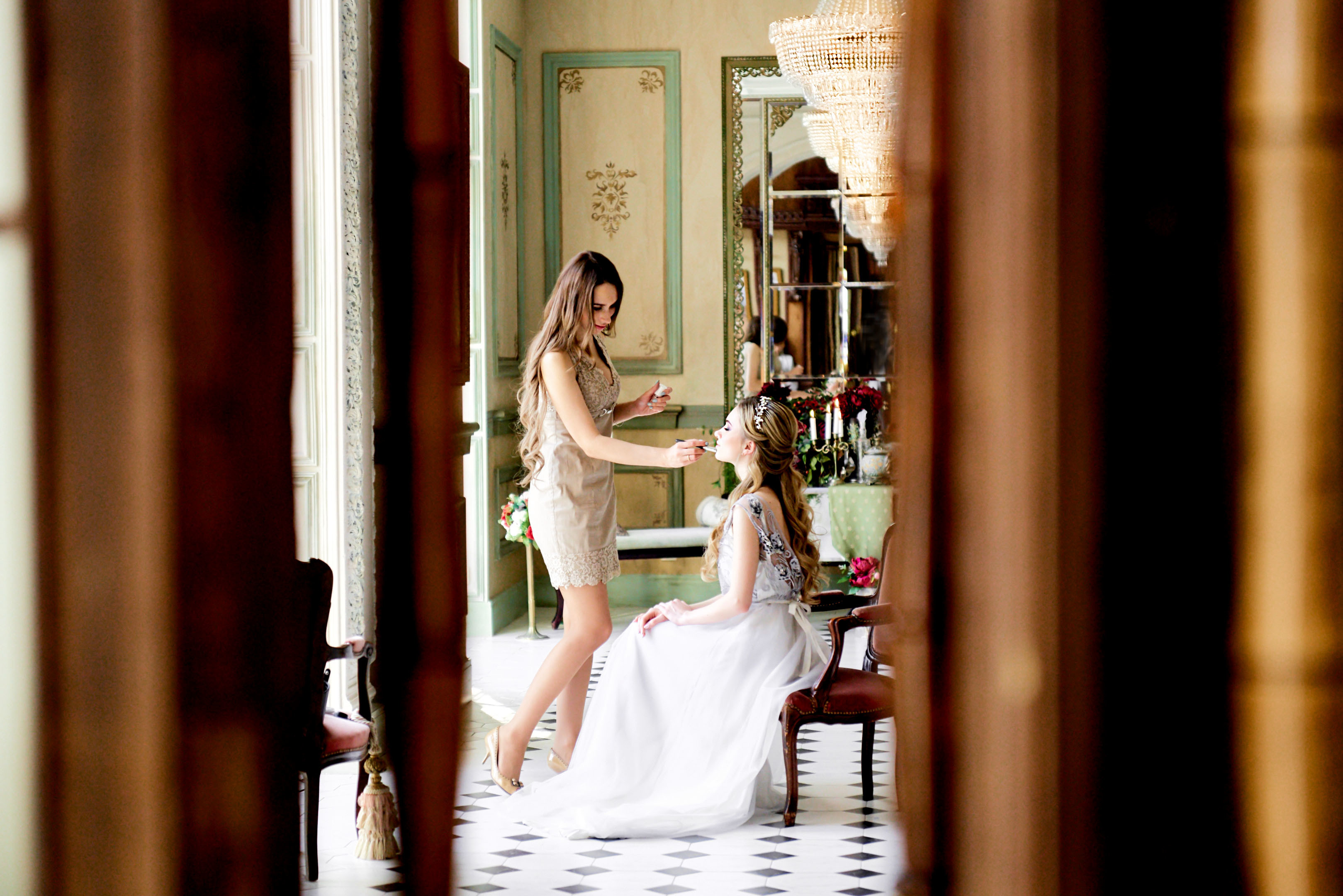 Утро невесты в фотостудии, свадебный фотограф спб