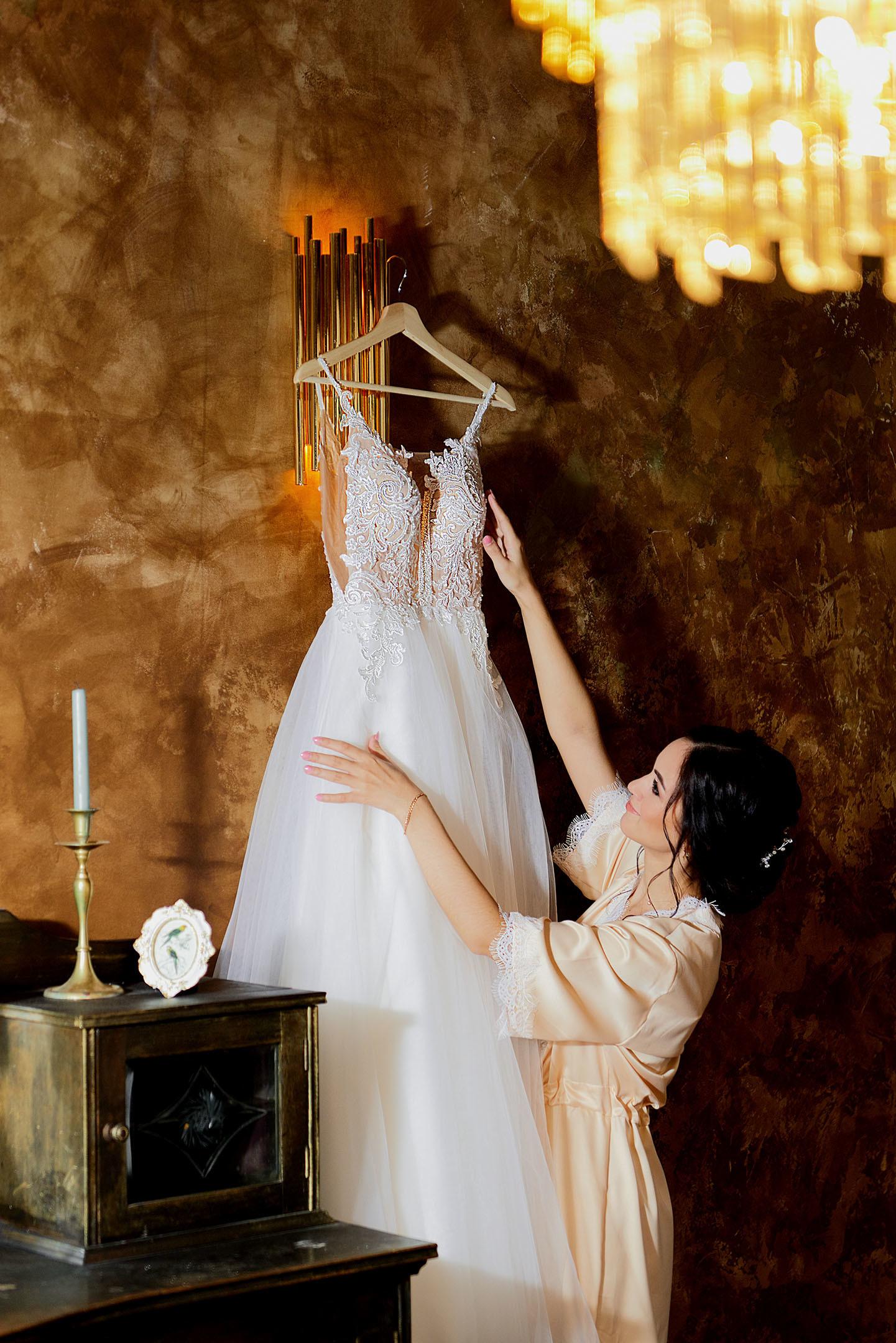 Утро невесты, платье невесты, свадебный фотограф спб