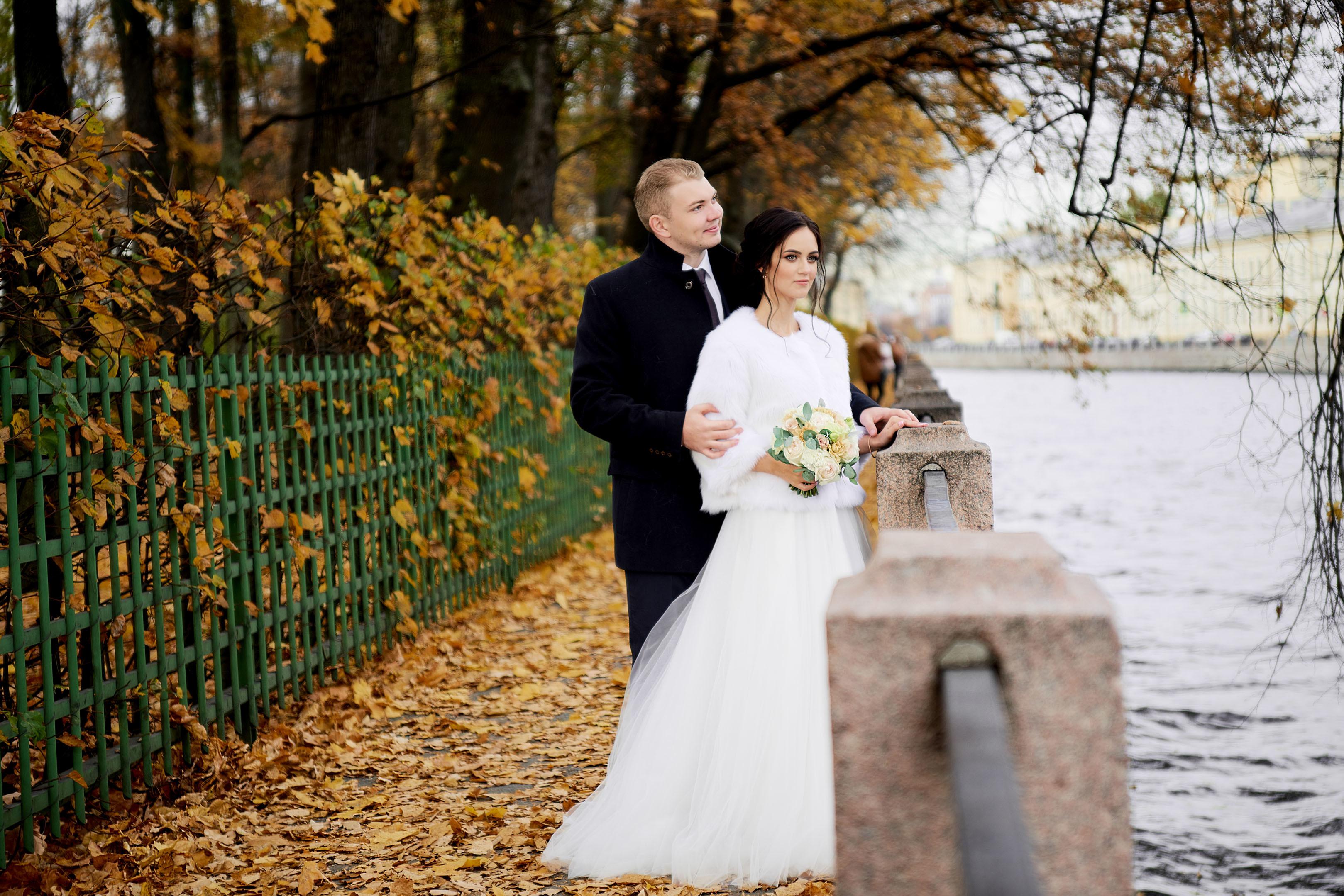 Осенняя свадьба, свадебный фотограф спб