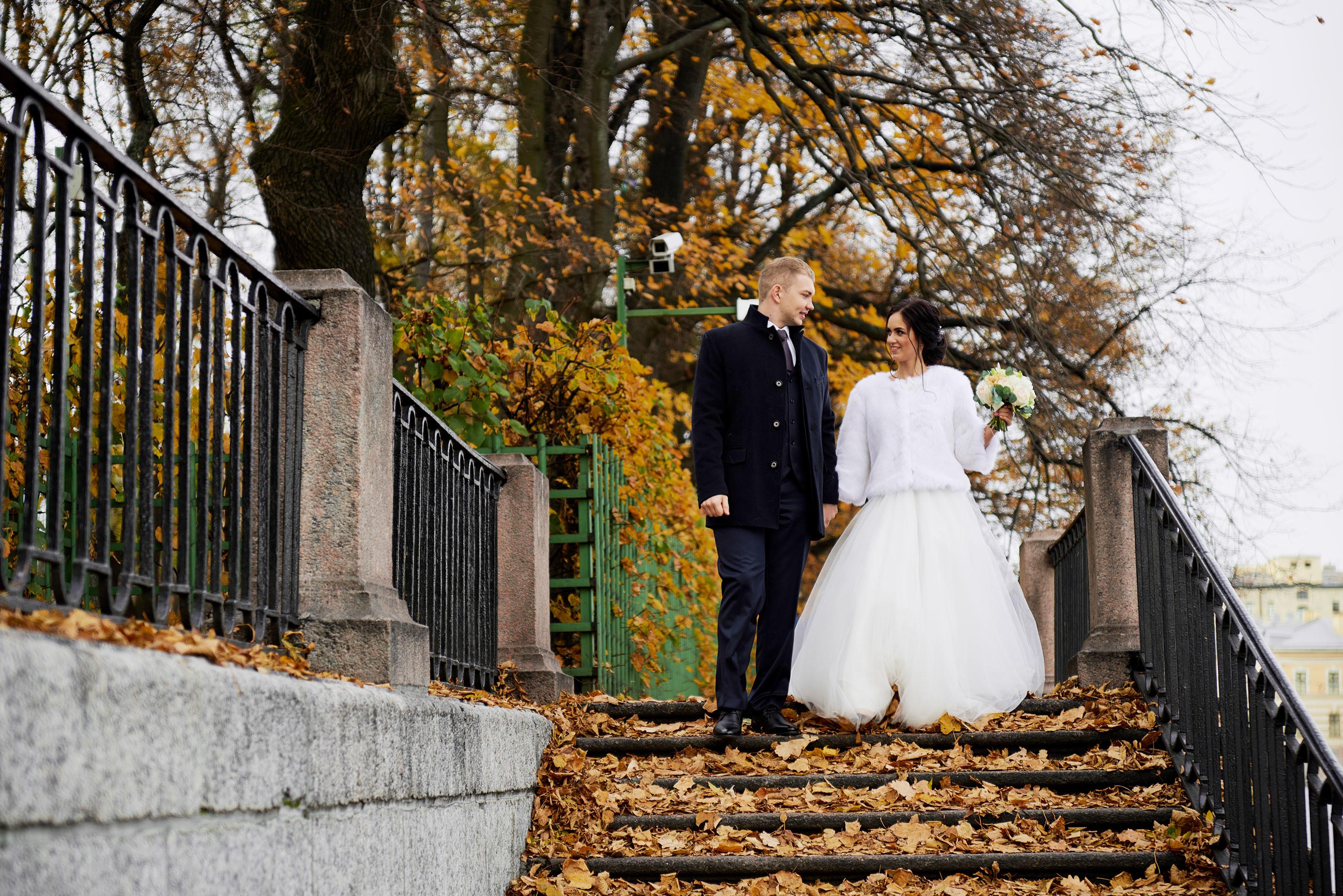Свадьба осенью, свадебный фотограф спб