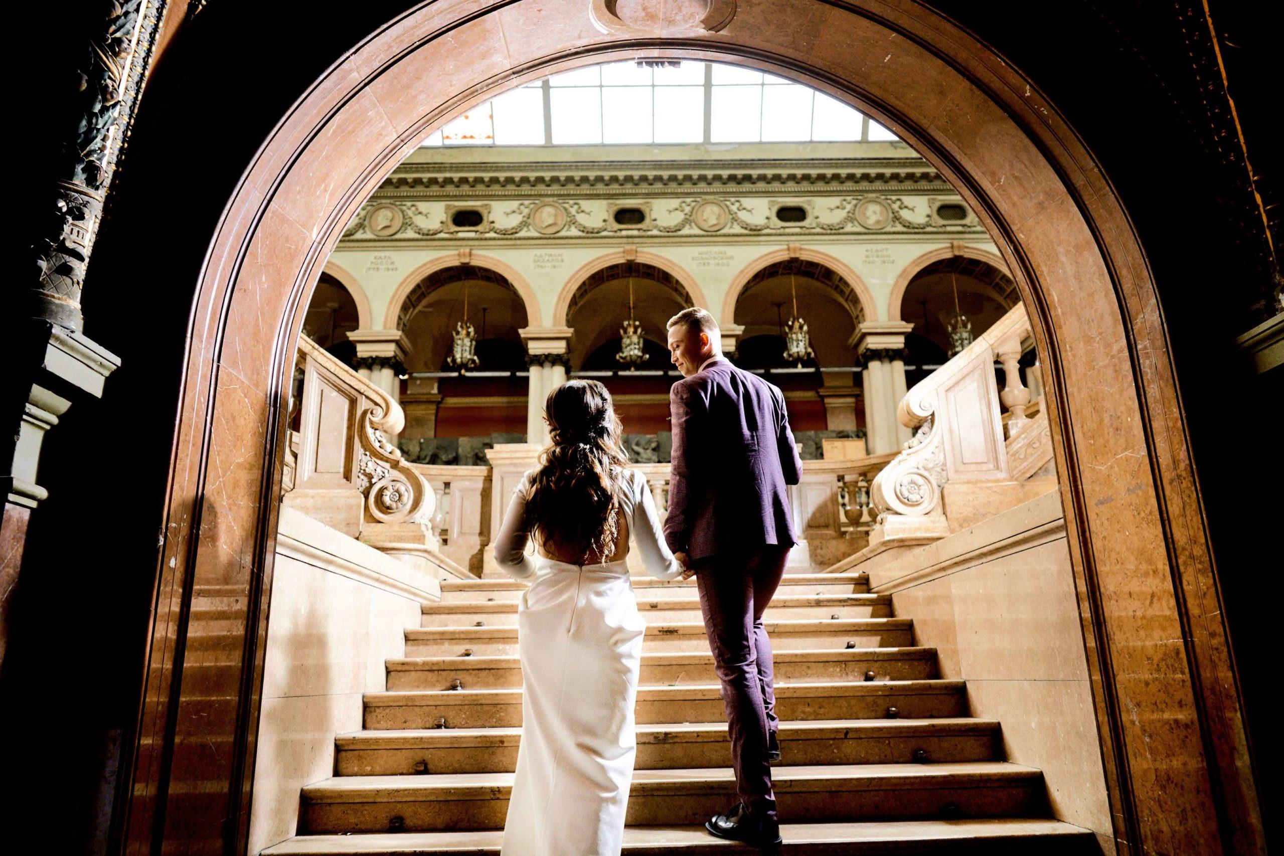 Свадебная фотосессия в Академии Штиглица