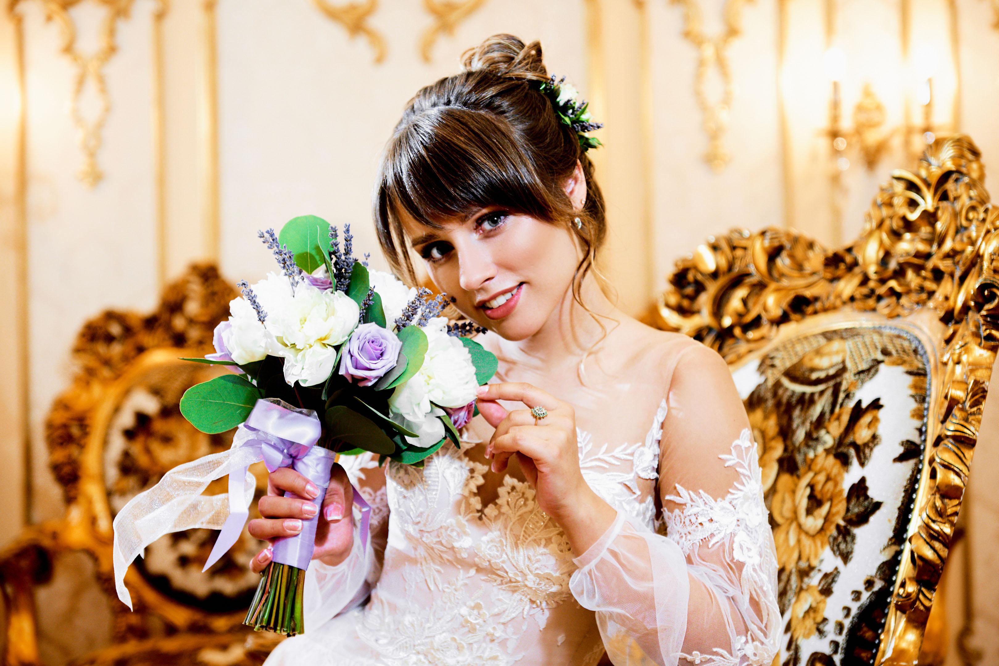 Свадебная фотосессия в фотостудии, свадебный фотограф Пушкин
