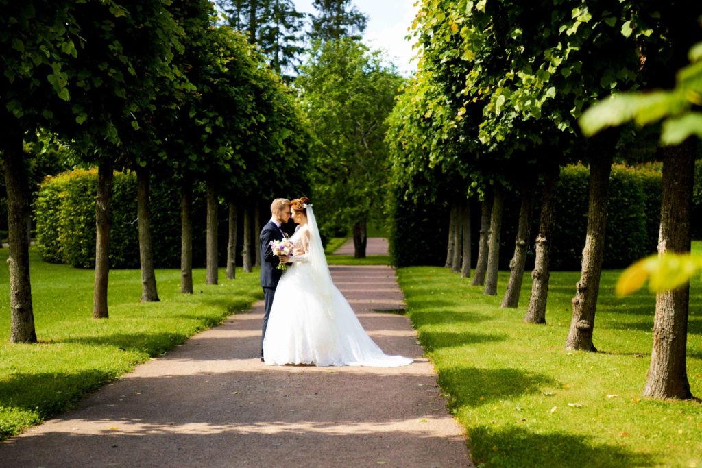 Свадебная фотосессия в Пушкине, Тенистые аллеи