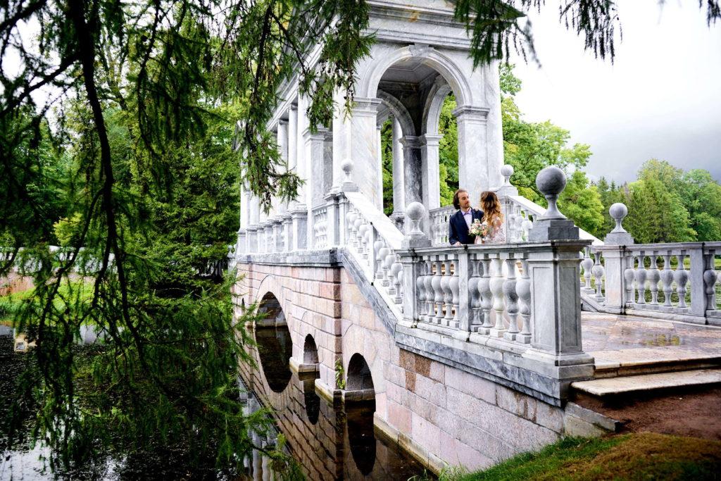 Свадебная фотосессия в Пушкине, Мраморный мост